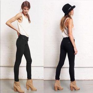 Rag & Bone Skinny Coal Black Slim Fit Jeans 25